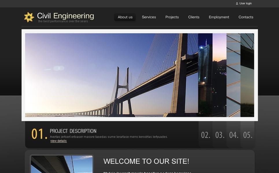 PSD Template over Civiele Techniek New Screenshots BIG