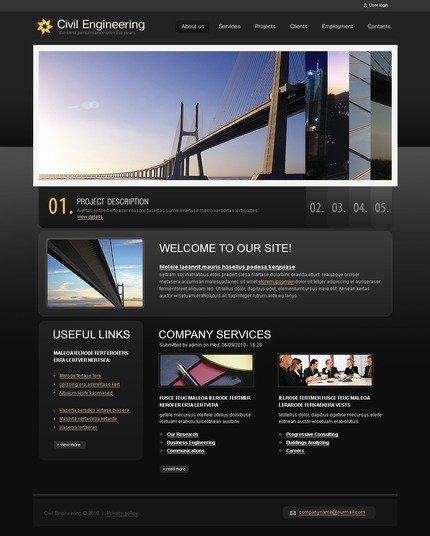 ADOBE Photoshop Template 50362 Home Page Screenshot