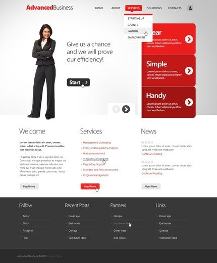 ADOBE Photoshop Template 50368 Home Page Screenshot