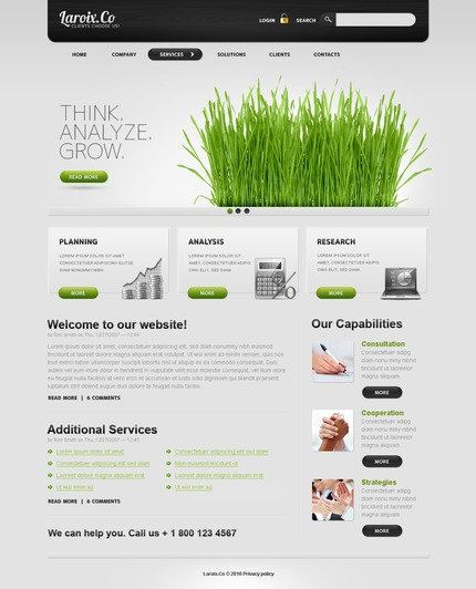 ADOBE Photoshop Template 50374 Home Page Screenshot