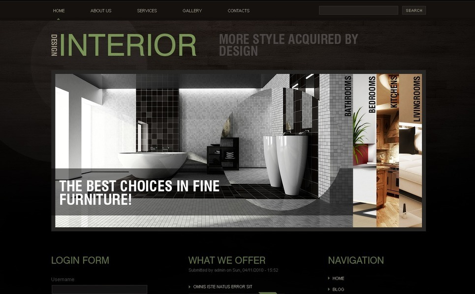 Template Photoshop  para Sites de Design Interior №50376 New Screenshots BIG