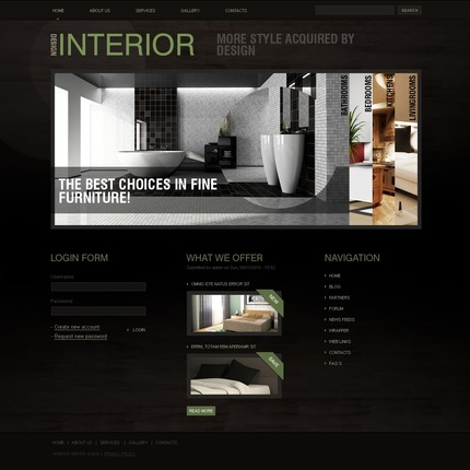 ADOBE Photoshop Template 50376 Home Page Screenshot