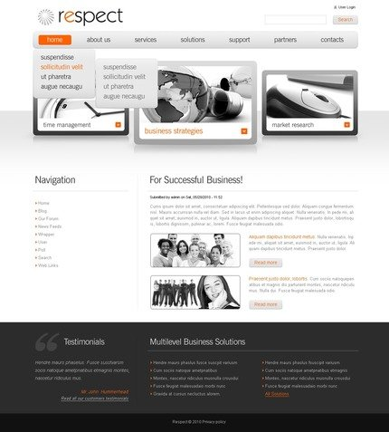 ADOBE Photoshop Template 50378 Home Page Screenshot