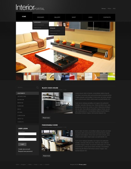 ADOBE Photoshop Template 50379 Home Page Screenshot