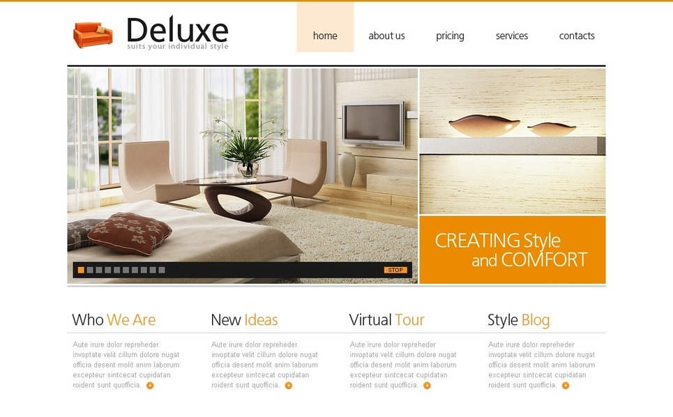 Template Photoshop  para Sites de Interior e Móveis №50382 New Screenshots BIG