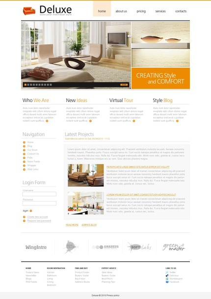 ADOBE Photoshop Template 50382 Home Page Screenshot