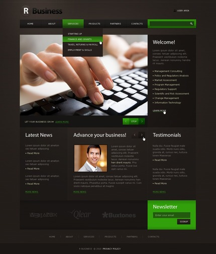 ADOBE Photoshop Template 50384 Home Page Screenshot