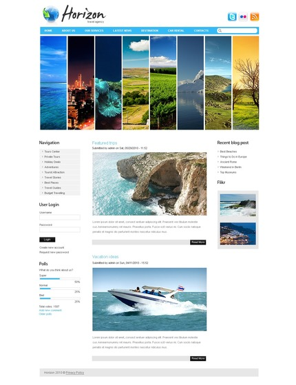 ADOBE Photoshop Template 50386 Home Page Screenshot