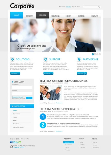 ADOBE Photoshop Template 50387 Home Page Screenshot