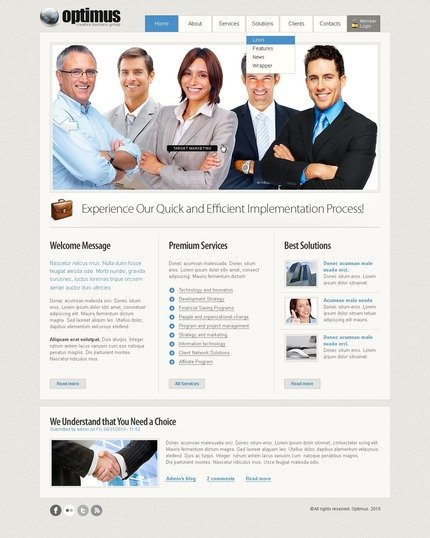 ADOBE Photoshop Template 50389 Home Page Screenshot