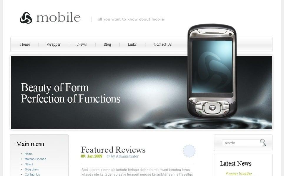 Plantilla PSD #50390 para Sitio de Tienda de móviles New Screenshots BIG