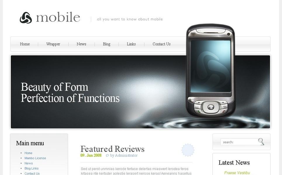 PSD Template over Mobiele winkel New Screenshots BIG