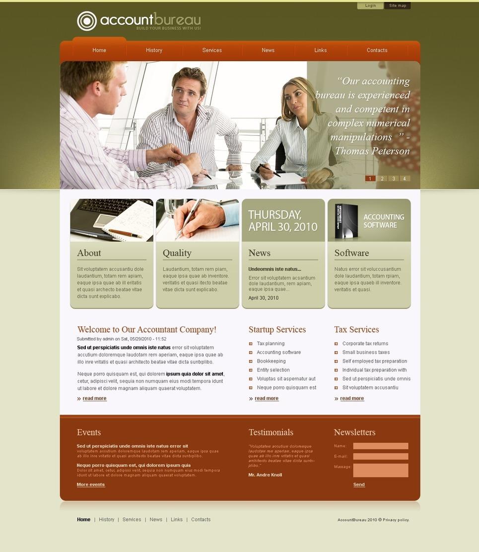 Accounting Website PSD Template New Screenshots BIG