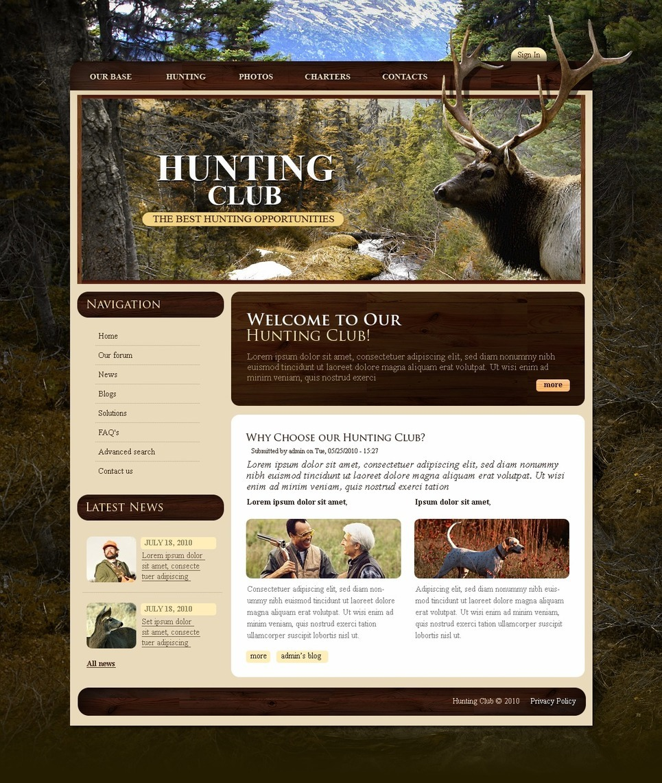 Hunting PSD Template New Screenshots BIG