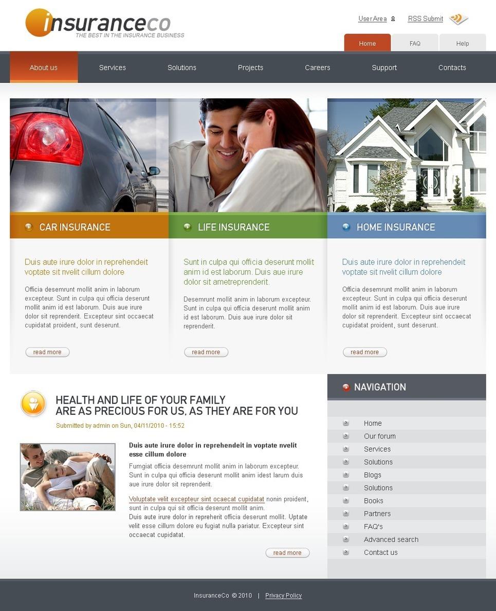 Insurance PSD Template New Screenshots BIG