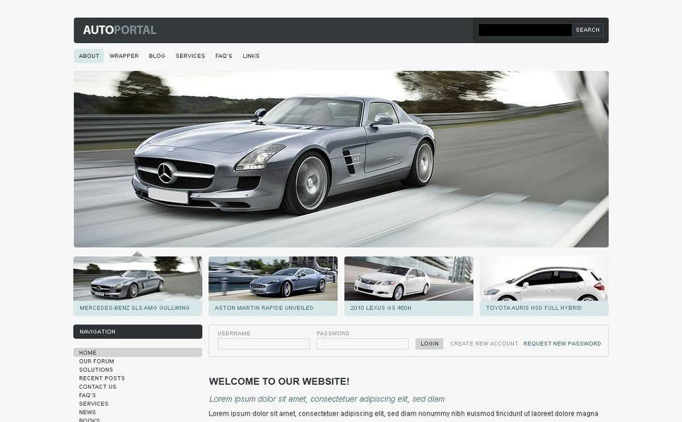 Otomobil Kulübü  Psd Şablon New Screenshots BIG