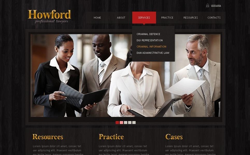 PSD шаблон №50367 на тему юрист New Screenshots BIG