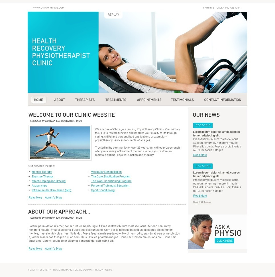 Rehabilitation PSD Template New Screenshots BIG