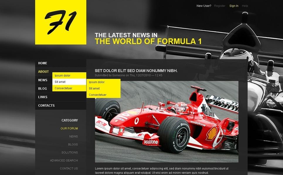 Template Photoshop  para Sites de Corrida de Carros №50363 New Screenshots BIG