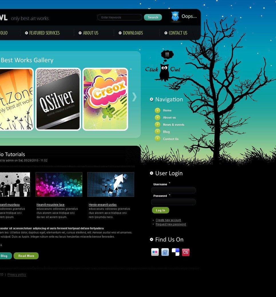 Web Design PSD Template New Screenshots BIG