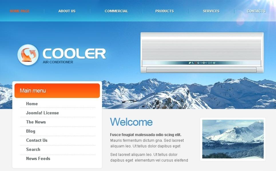 空调公司网站PSD模板 New Screenshots BIG