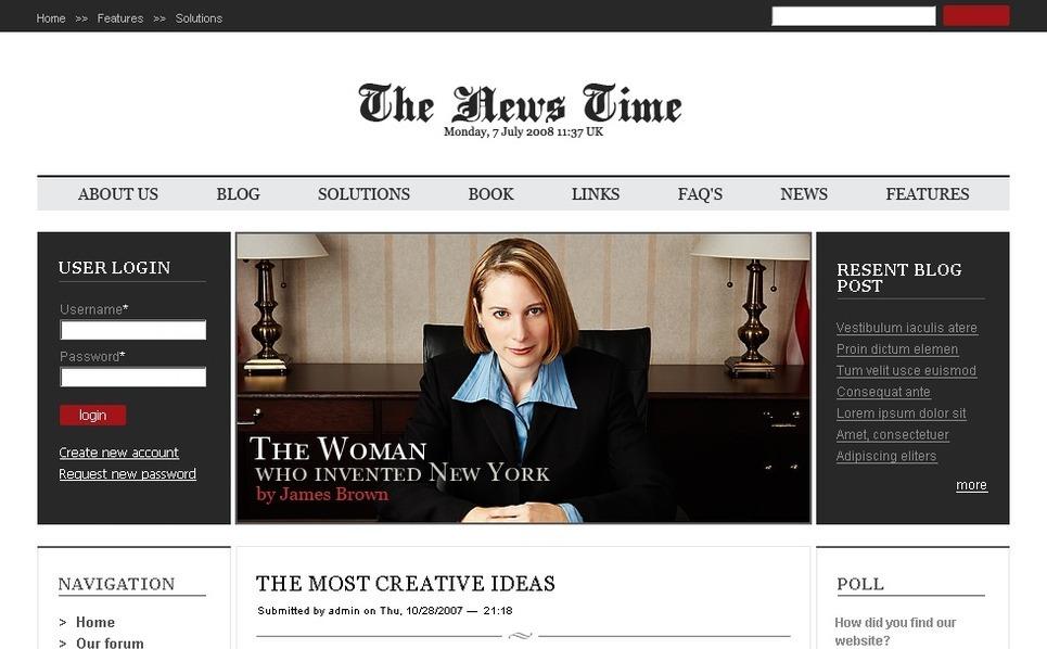 PSD Template over Nieuws Website  New Screenshots BIG