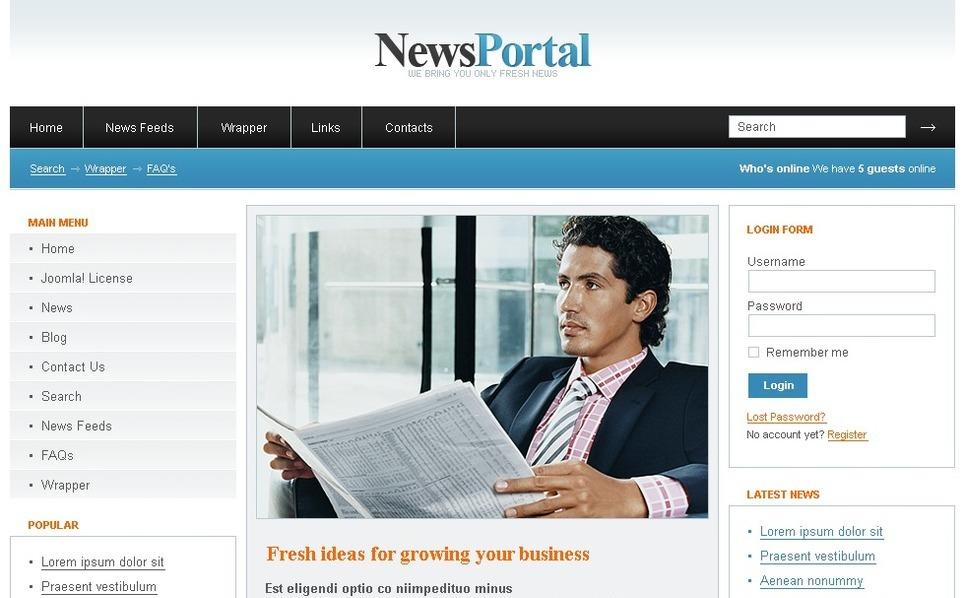 Szablon PSD #50405 na temat: portal informacyjny New Screenshots BIG