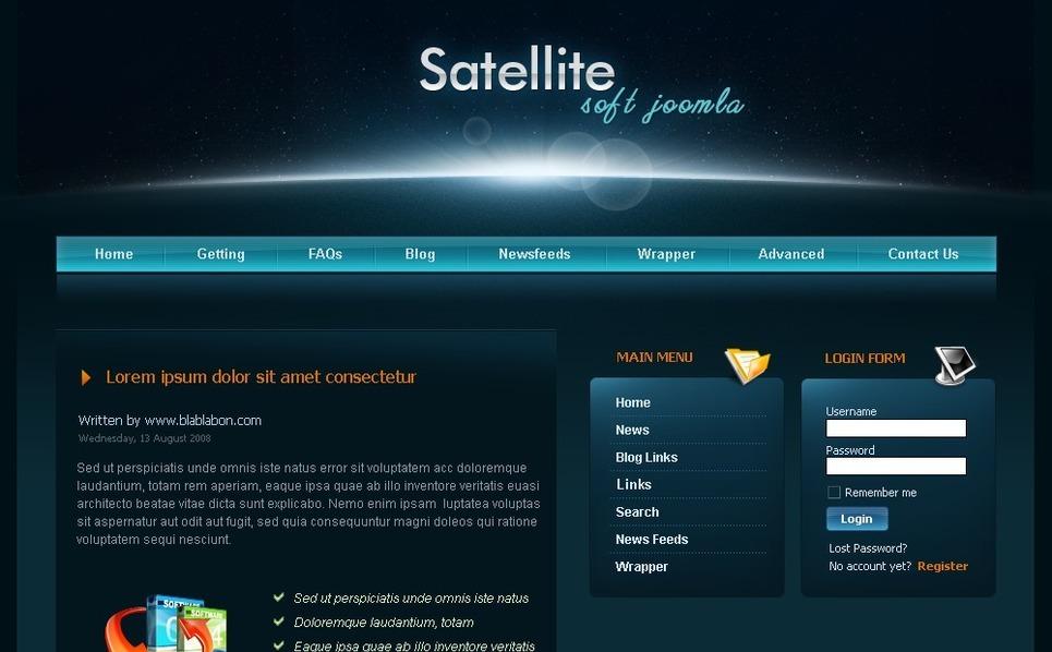 PSD шаблон №50406 на тему Шаблон сайта компании программного обеспечения New Screenshots BIG