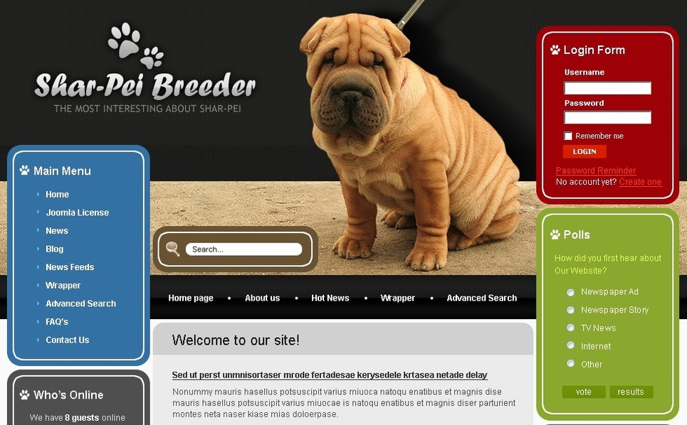 Template Photoshop  para Sites de Cachorros №50409 New Screenshots BIG