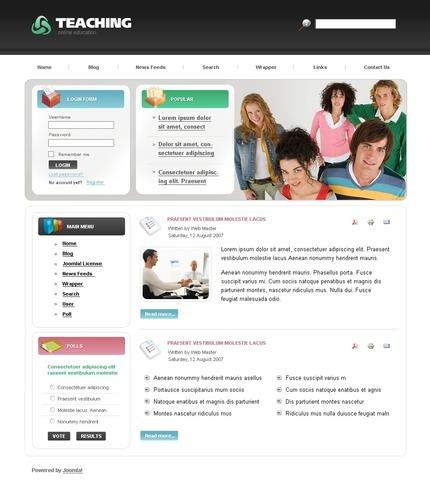 ADOBE Photoshop Template 50414 Home Page Screenshot