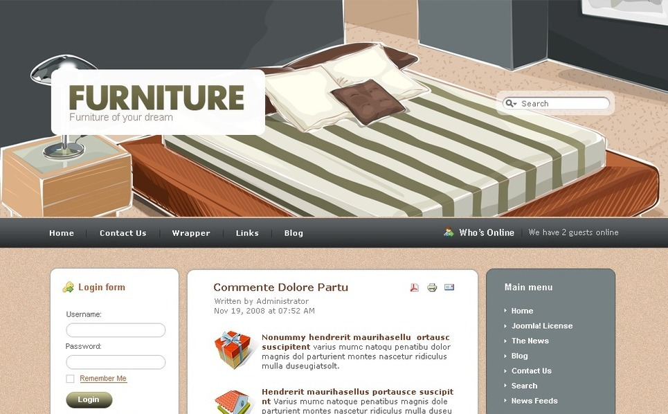 Plantilla PSD #50415 para Sitio de Muebles New Screenshots BIG