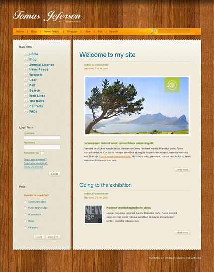 ADOBE Photoshop Template 50418 Home Page Screenshot