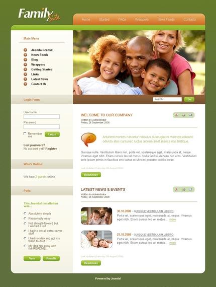 ADOBE Photoshop Template 50422 Home Page Screenshot
