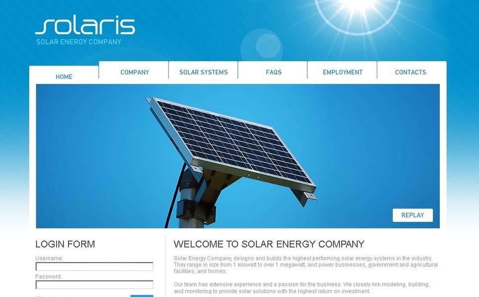 Tema PSD  #50427 per Un Sito di Energia Solare New Screenshots BIG