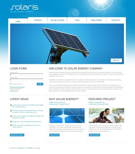 ADOBE Photoshop Template 50427 Home Page Screenshot