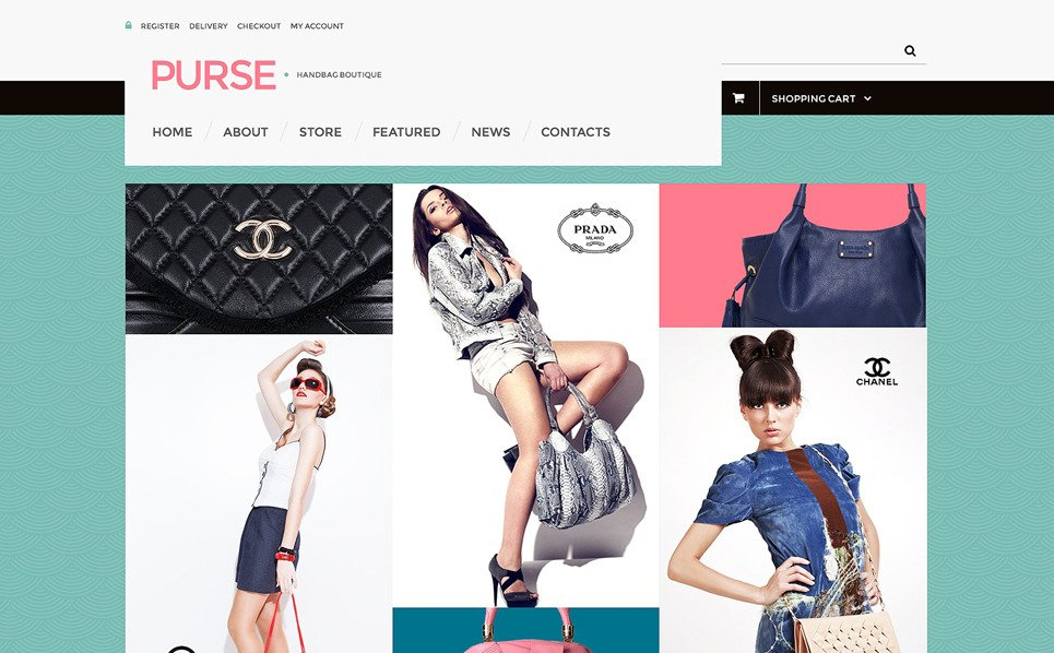 Responsives WooCommerce Theme für Handtasche  New Screenshots BIG