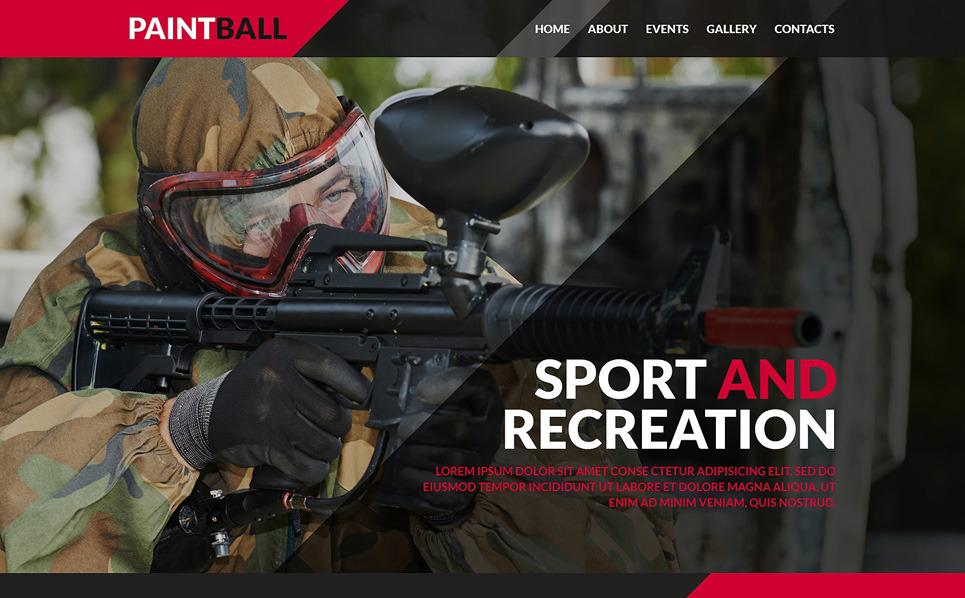 Responsywny szablon strony www #50436 na temat: paintball New Screenshots BIG