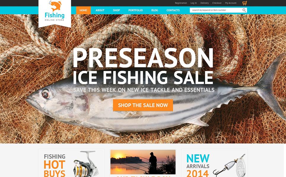Адаптивний WooCommerce шаблон на тему рибалка New Screenshots BIG