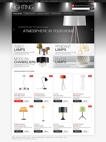 osCommerce Template 50443 Main Page Screenshot