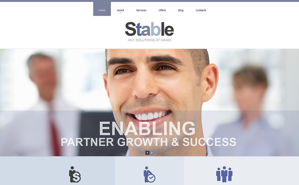 Responsive Management Company Templates Web Sitesi Şablonu New Screenshots BIG