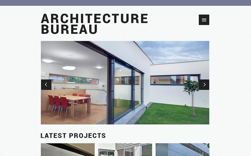 Адаптивний Шаблон сайту на тему архітектура New Screenshots BIG