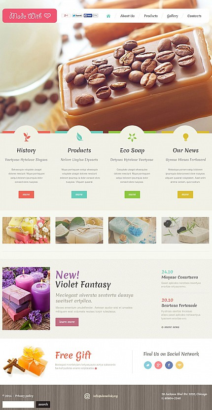 ADOBE Photoshop Template 50463 Home Page Screenshot