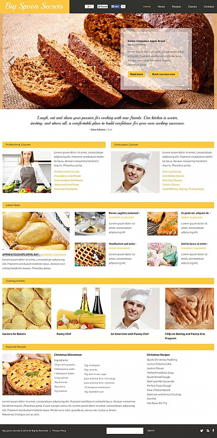 ADOBE Photoshop Template 50464 Home Page Screenshot