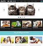 Animals & Pets Flash CMS  Template 50467