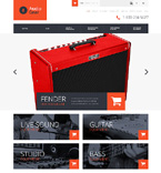 Music OpenCart  Template 50477
