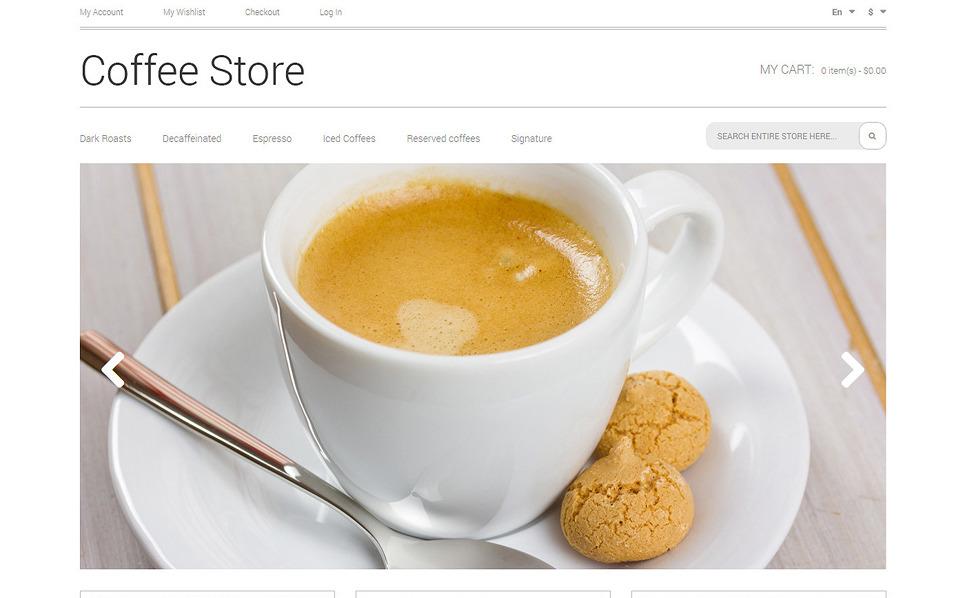 Reszponzív Kávébolt  Magento sablon New Screenshots BIG