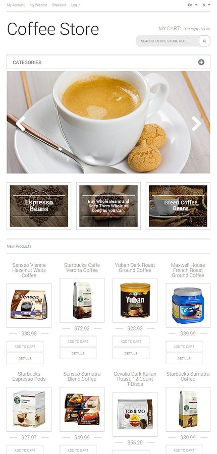 Magento Theme/Template 50483 Main Page Screenshot