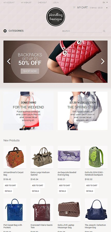 Magento Theme/Template 50486 Main Page Screenshot