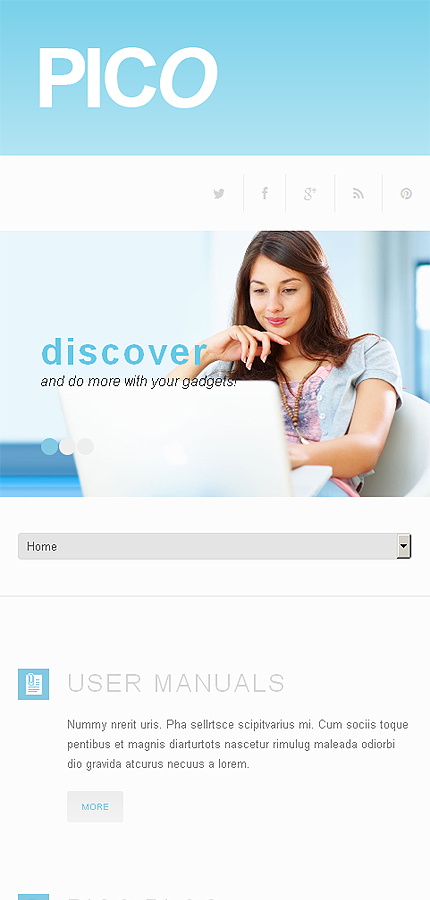 WordPress Theme/Template 50499 Main Page Screenshot
