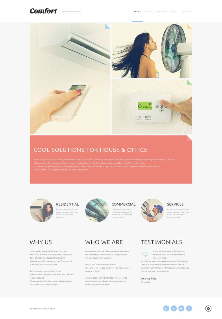 Air Conditioning Systems Joomla Template New Screenshots BIG
